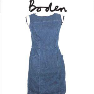 Boden tank top pocket jean denim dress size 2P